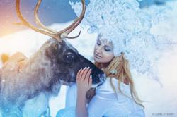 снежная королева с оленем