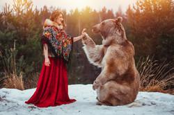 красивая фотография с медведем степаном