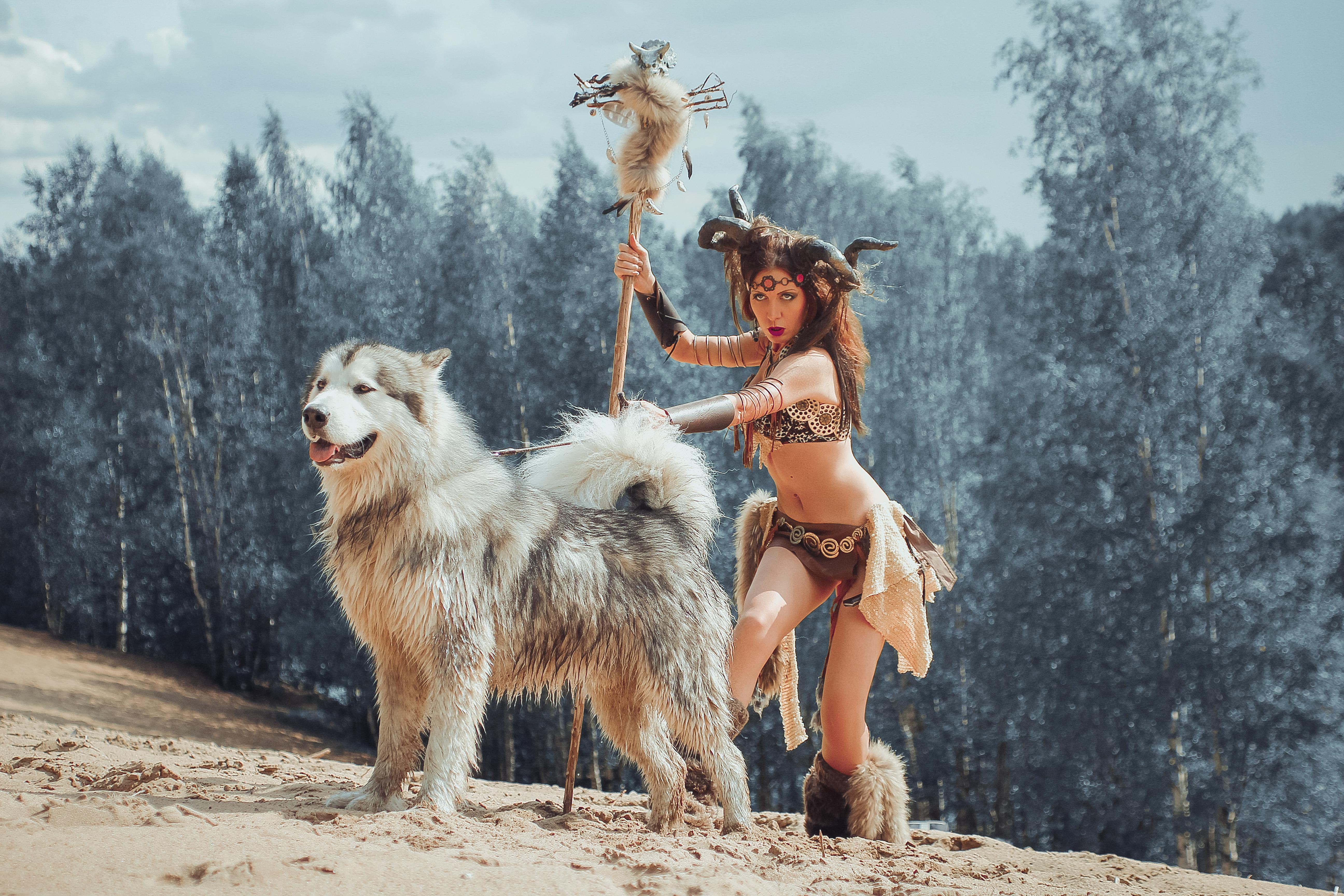 Дикарка и волк