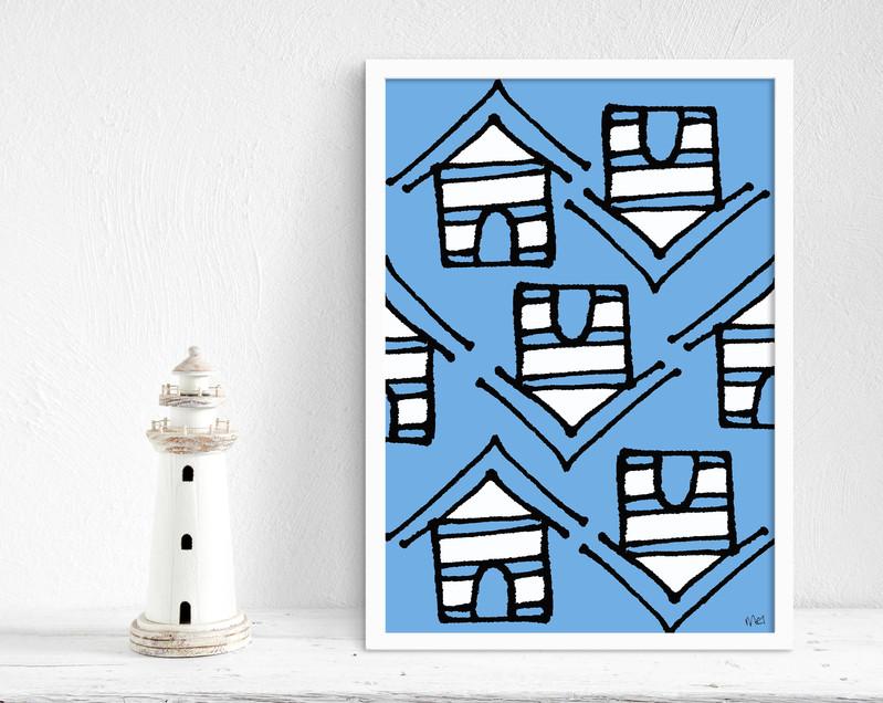 Crazy Huts blue