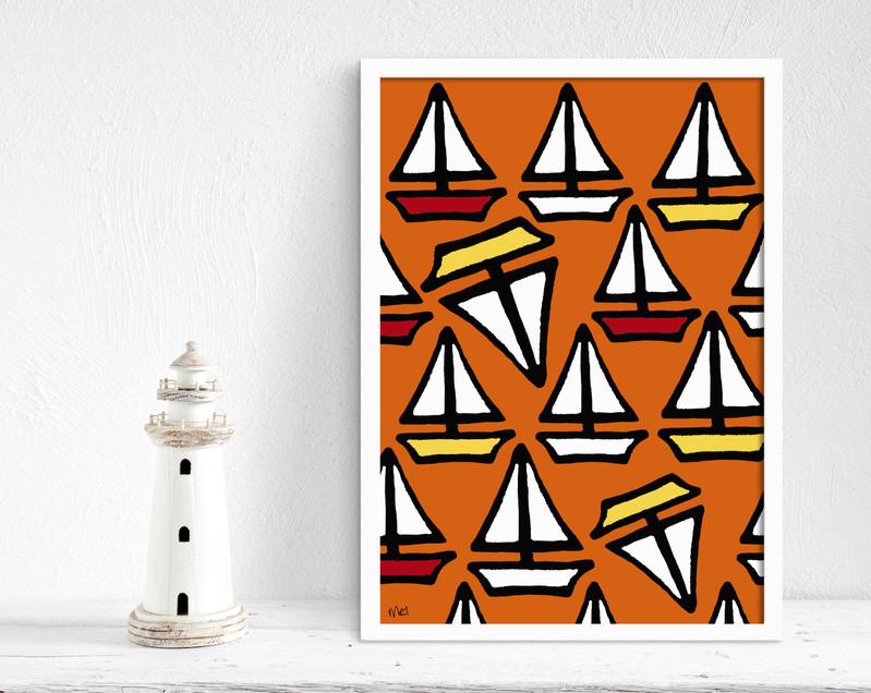 Saily boats orange