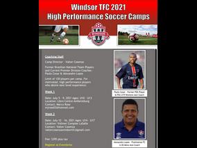 Windsor TFC introduces 2 week summer camps