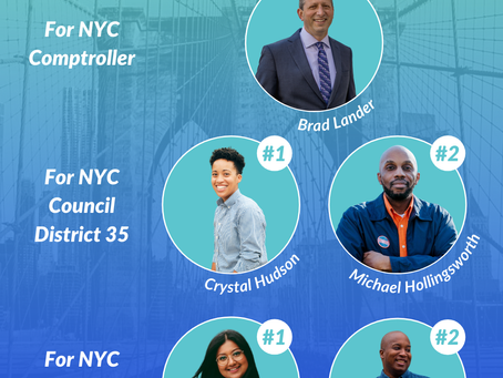 📢 Announcing our NYC 2021 endorsements!