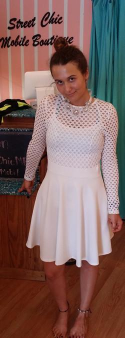 White mesh-top dress (2)