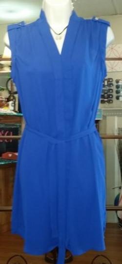 Blue belted dress (2)