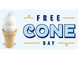 FREE ICE CREAM CONE SATURDAY - 4/16/16!