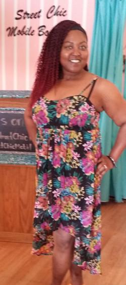 Tash floral hi-low dress (2)