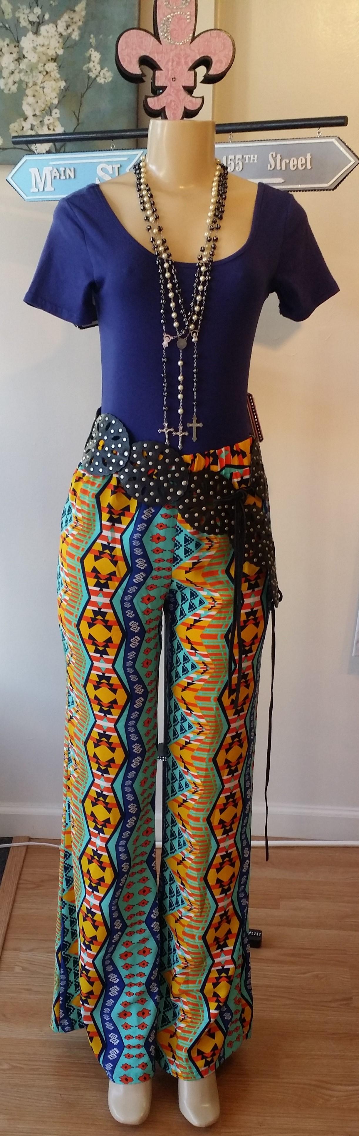 Geometric pants & blue bodysuit (2)