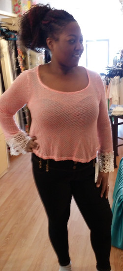 Peach top-zip jean leggings2 (2)