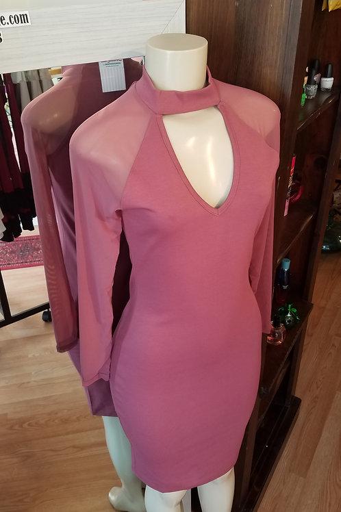 Rose Peek-A-Boo Dress