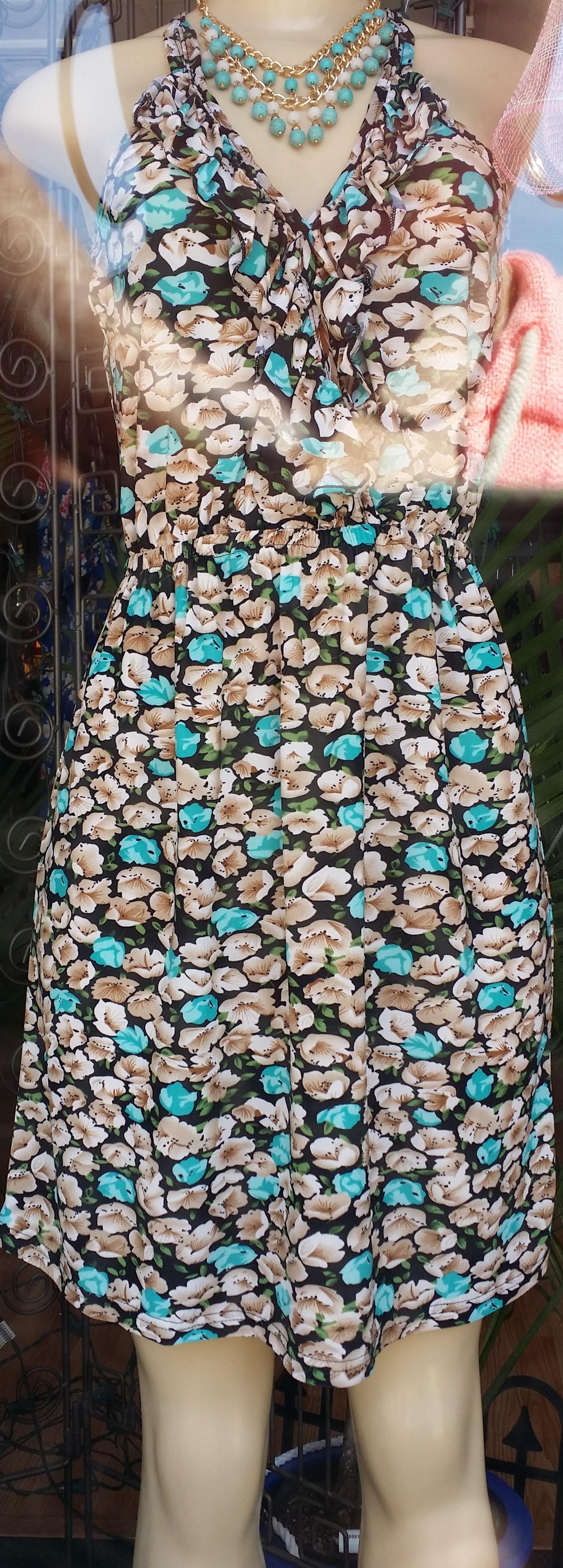 floral short dress (2)