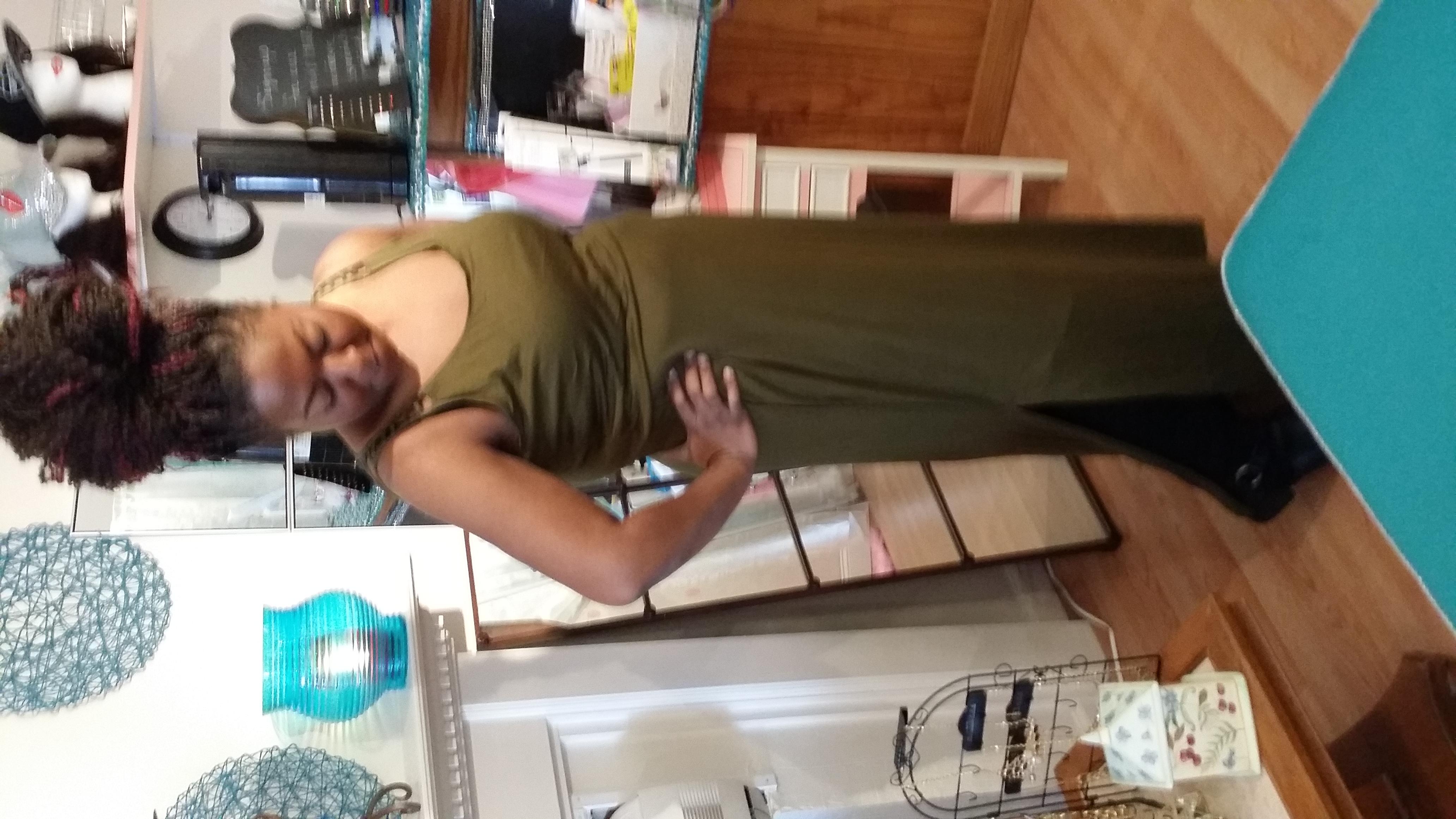 green dress front split