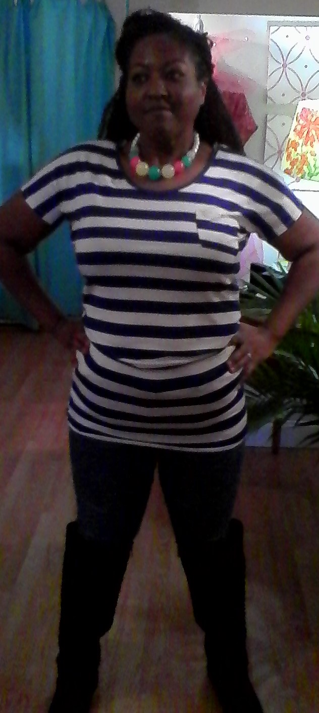 White&black striped tunic (2)