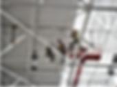 Высотные работы, покраска металлоконструкций на высоте с помощью промышленных альпинистов