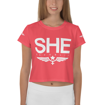 SHE Red Wings Crop Top