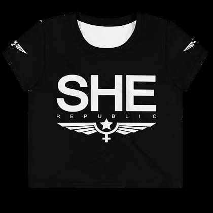SHE Black Wings Crop Top