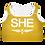 Thumbnail: SHE Yellow Padded Sports Bra