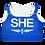 Thumbnail: SHE Blue Padded Sports Bra
