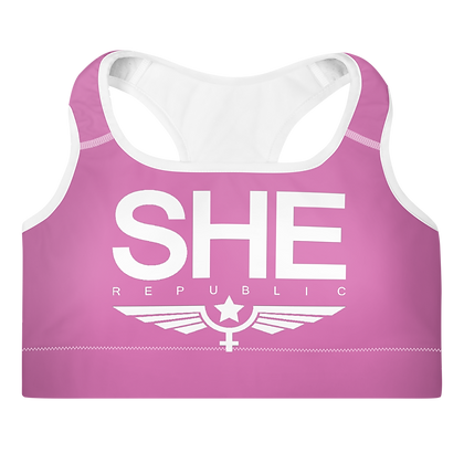 SHE Violet Padded Sports Bra