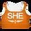 Thumbnail: SHE Orange Padded Sports Bra