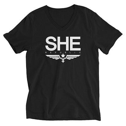 SHE V-Neck T-Shirt