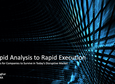 Rapid Analysis to Rapid Execution: 5 Steps for company survival in today's disruptive market…