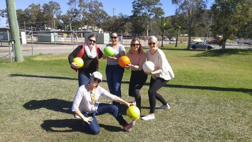 Girls footgolf