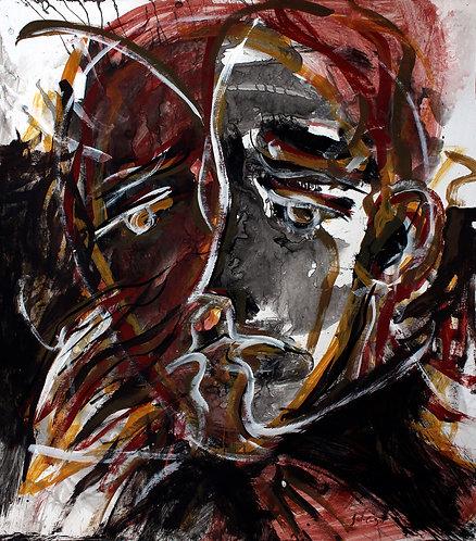 Rostros Cotidianos XXXVIII - Juan de la Cruz Digital Art