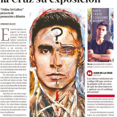 Juan de la Cruz opens his exhibition Inaugura Juan de la Cruz su exposición