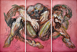 La entrega XV (triptych)