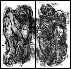 Adán y Eva (diptych)
