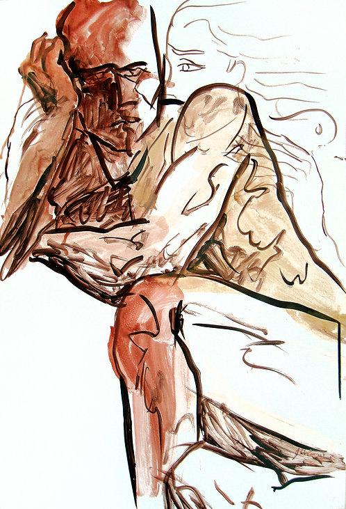 Estudios Anatómicos III - Juan de la Cruz Digital Art