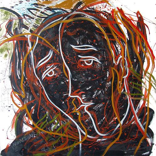 Rostros Cotidianos XXXV - Juan de la Cruz Digital Art