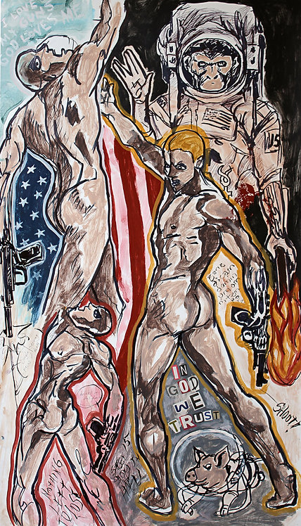 In God we Trust - Juan de la Cruz Digital Art