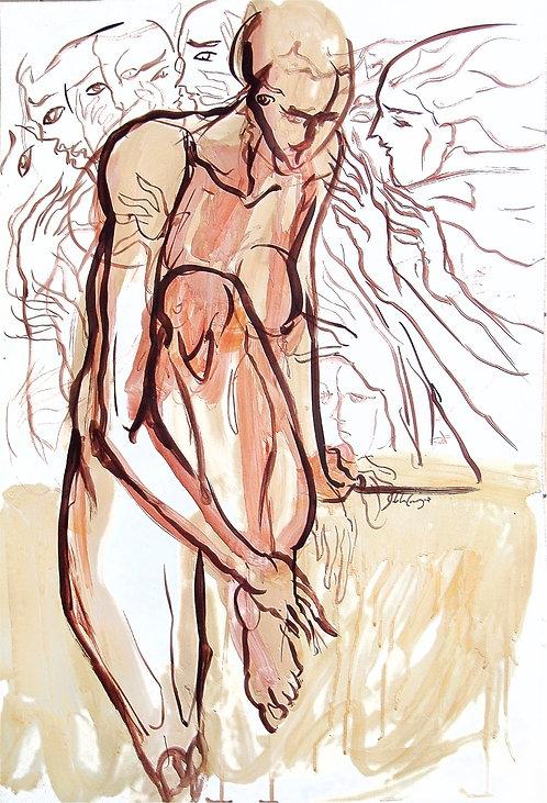 Estudios Anatómicos XI - Juan de la Cruz Digital Art
