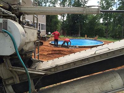 Ready mix concrete  pool deck  Colt's Ne