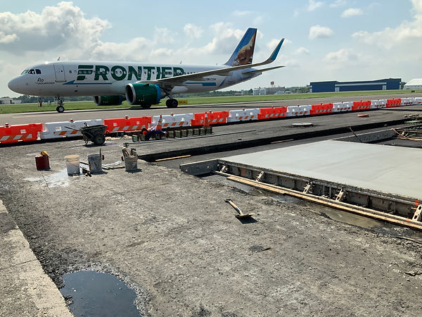 Trenton airport concrete