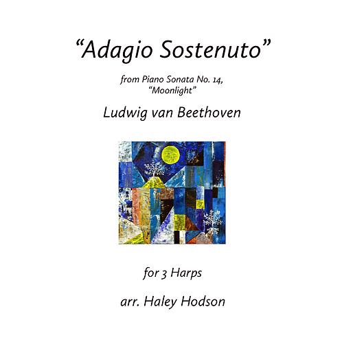 """Moonlight Sonata"" by Beethoven, arr. Haley Hodson(for 3 harps)"