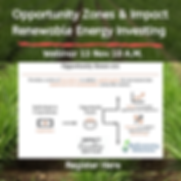 Opportunity Zones & Impact Renewable Ene