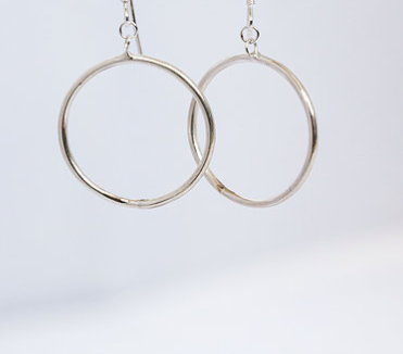 e8fe5fa44 Recycled Silver Large Drop Hoop Earrings