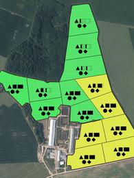 Kartē attēloti augsnes analīžu rezultāti.