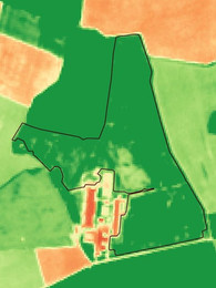 Lauka biomasas karte.
