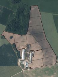 Kontūru sadalījums, ņemot vērā biomasas,  granulometriskā sastāva un augsnes tipa kartes.