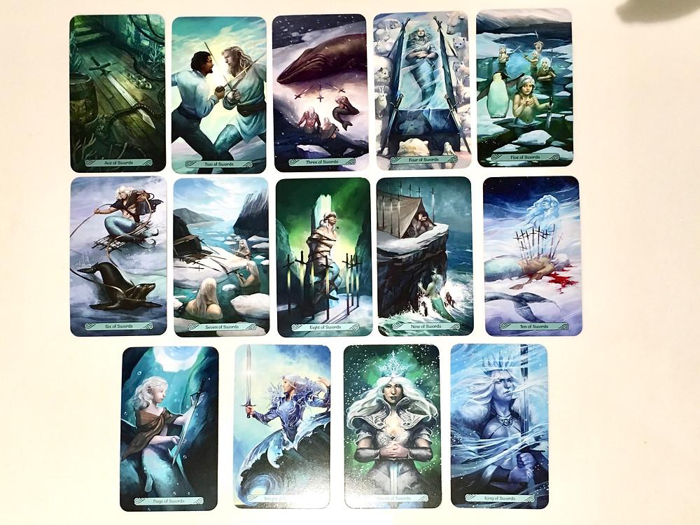 Mermaid Tarot Major, The Suit of Swords