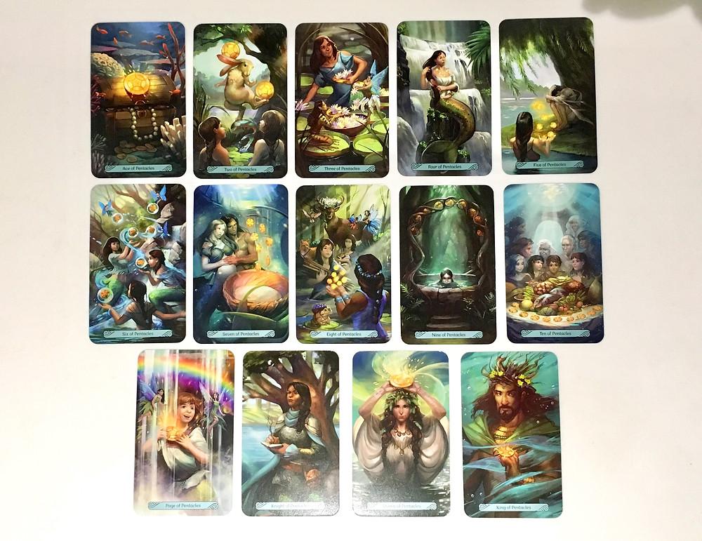 Mermaid Tarot Major, The Suit of Pentacles