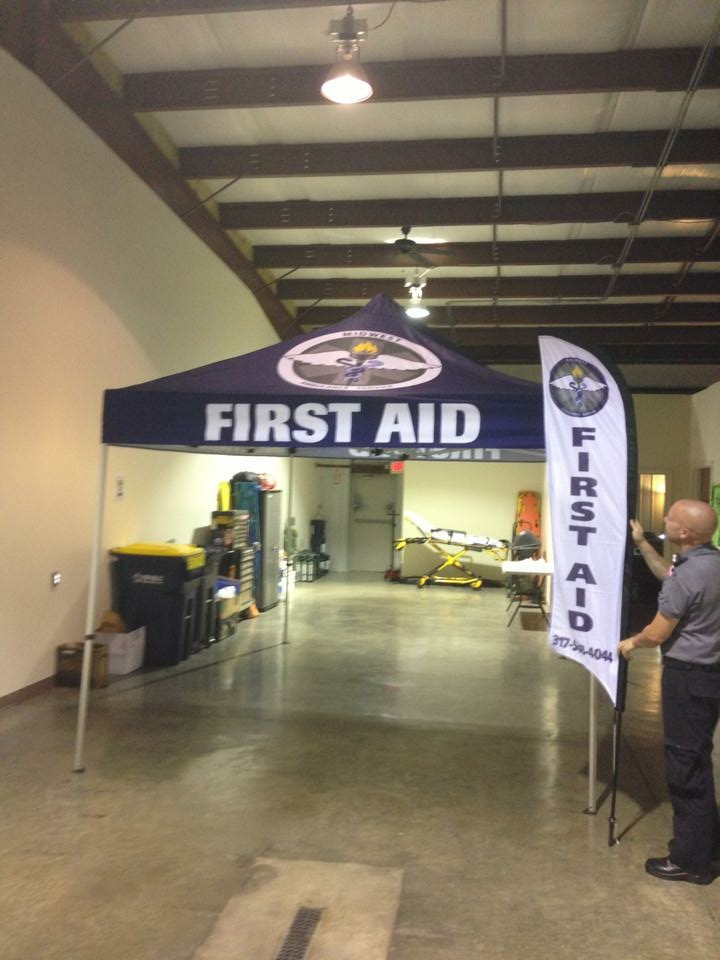 Our First Aid Tent