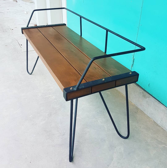 Solid Balau Hairpin Bench