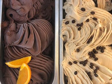 LITTLE LATO gelato tubs - dark choc oran