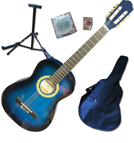3/4 Size Acoustic Guitar Pack - Blue