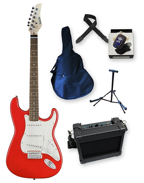 Discovery Electric Guitar Pack - Red